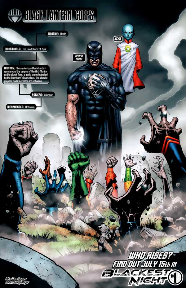 Black Lanterns, rings, Black Hand, Scar