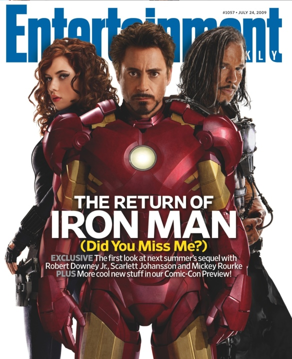 scarlett, robert downey jr, mickey rourke, iron man 2, iron man, black widow, entertainment magazine