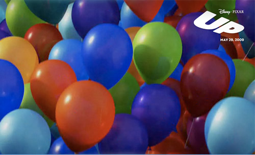 Pixar, up, poster, balloons