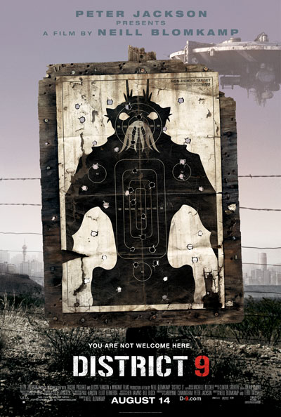 District 9, poster, prawns, no non humans allowed